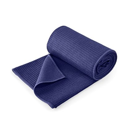 asciugamano yoga grip lotuscrafts blu