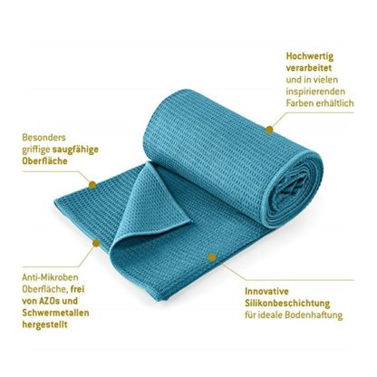 asciugamano yoga grip Lotuscrafts verde acqua
