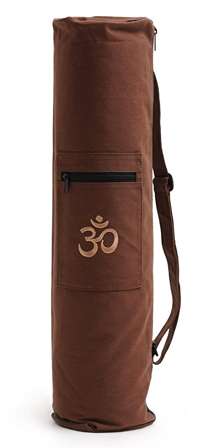 borsa yoga Om Yogistar marrone