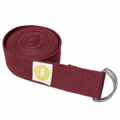 cintura yoga cotone bio Lotuscrafts bordeaux