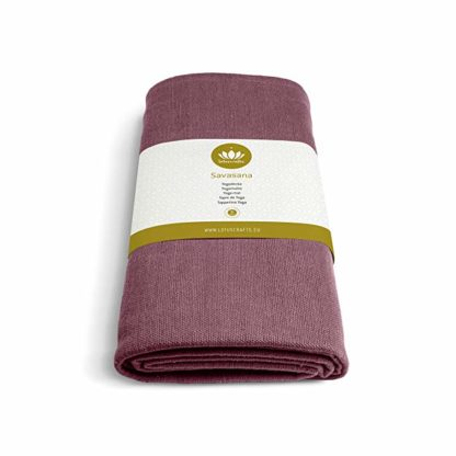 coperta yoga savasana cotone bio 5mm lotuscraft bordeaux