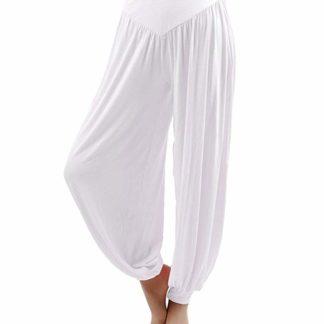 pantaloni larghi elasticizzati Hoerev bianchi